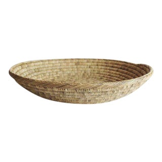 Handwoven Basket Tray For Sale