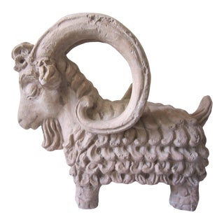 1960s Vintage Signed Ram Sculpture For Sale