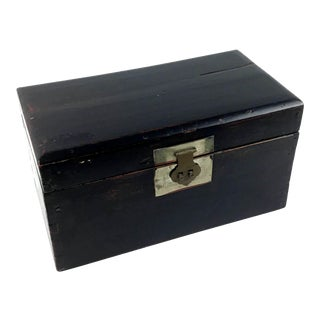 Antique Chinese Wood Box For Sale
