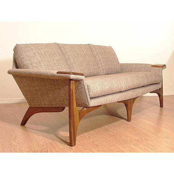 1960s Adrian Pearsall Craft Associates Mid-Century Danish Modern Sofa - Image 4 of 9