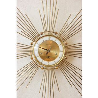 1940s Art Deco Style Brass Clock Preview