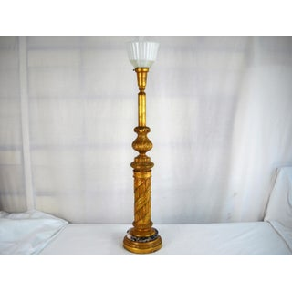 Large Italian Giltwood Torchiere Lamp Preview