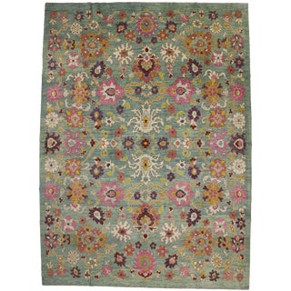 Contemporary Turkish Oushak Rug - 11′7″ × 15′9″ For Sale