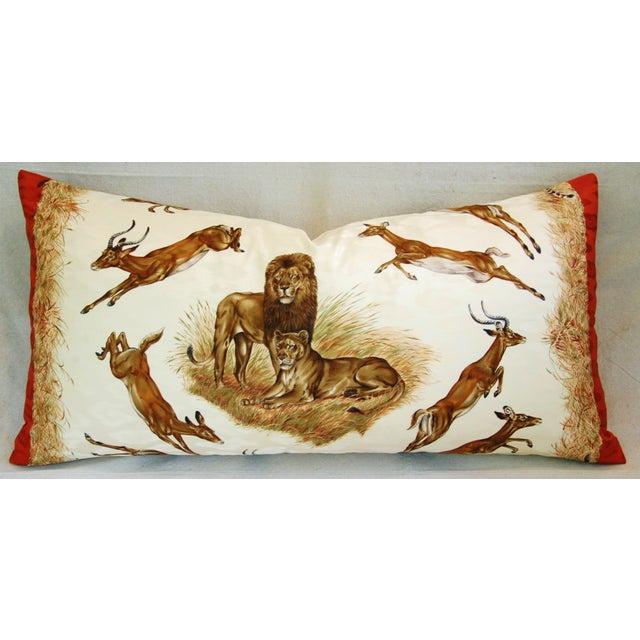 Custom Hermes Robert Dallet Safari Kenya Pillow - Image 2 of 11