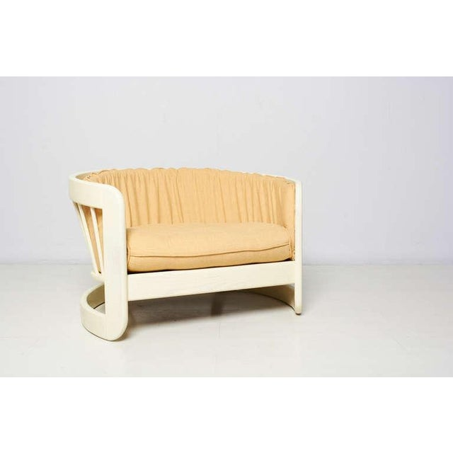 Milo Baughman Style White Lacquer Lounge Chair - Image 4 of 6