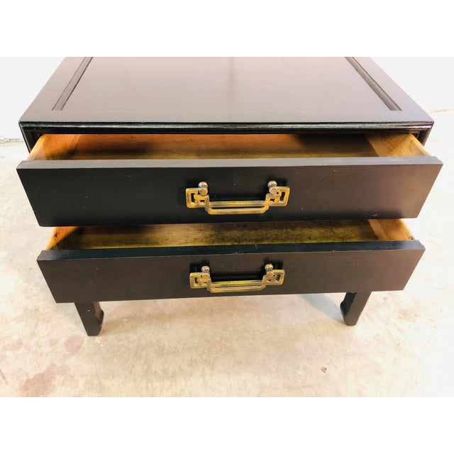 1960s Vintage Hekman Furniture Asian Modern Side Tables, Pair For Sale - Image 5 of 13