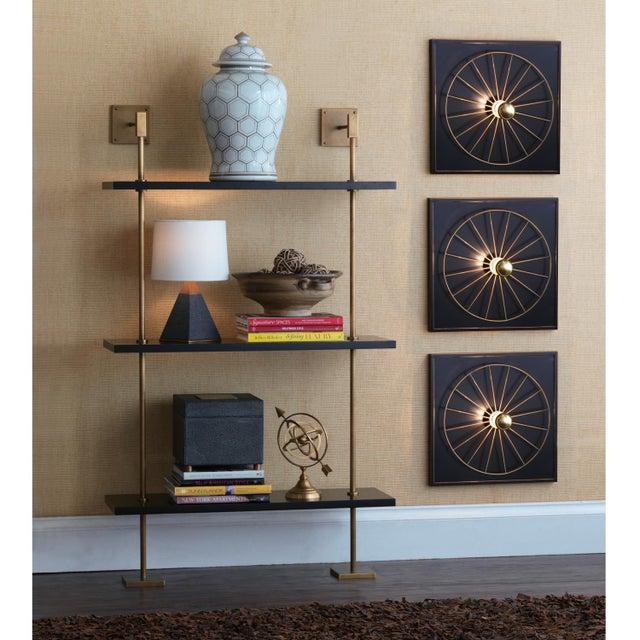 Port 68 Marais 3-Tier Black & Brass Shelf For Sale - Image 4 of 6