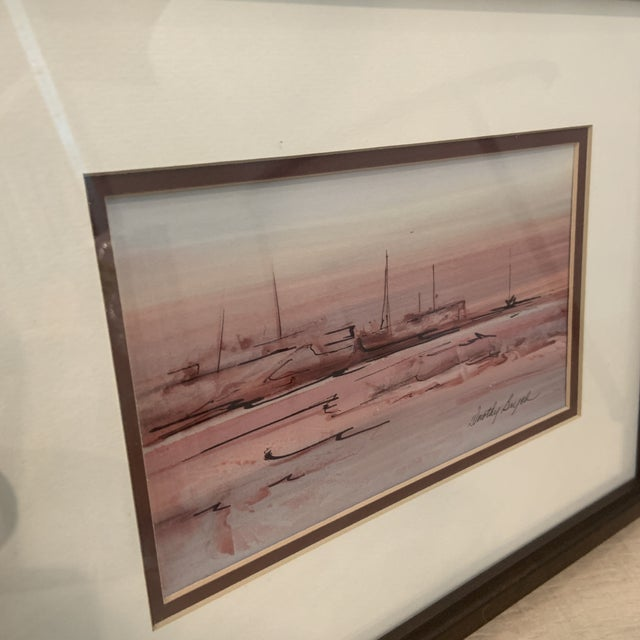 Mid 20th Century Abstract Watercolor Painting, Framed For Sale - Image 4 of 10