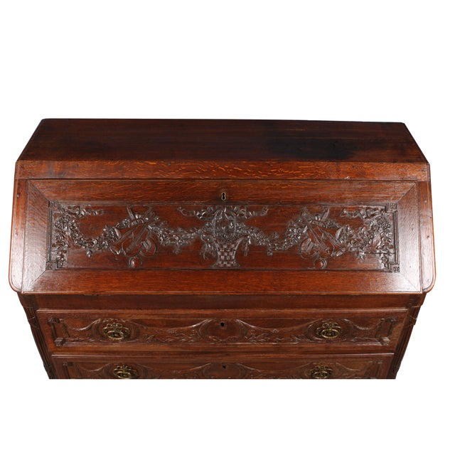 French 18th C. Louis XVI Style Fall Front Desk For Sale - Image 3 of 6