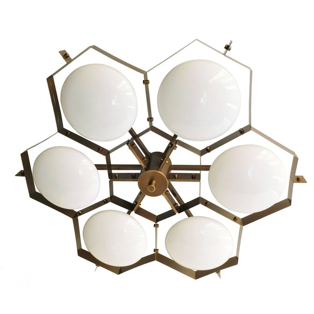 Fabio Ltd Beehive Flush Mount by Fabio Ltd For Sale - Image 4 of 10