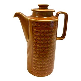 Vintage Mid-Century Modern Hornsea Saffron Pottery Coffee Pot For Sale