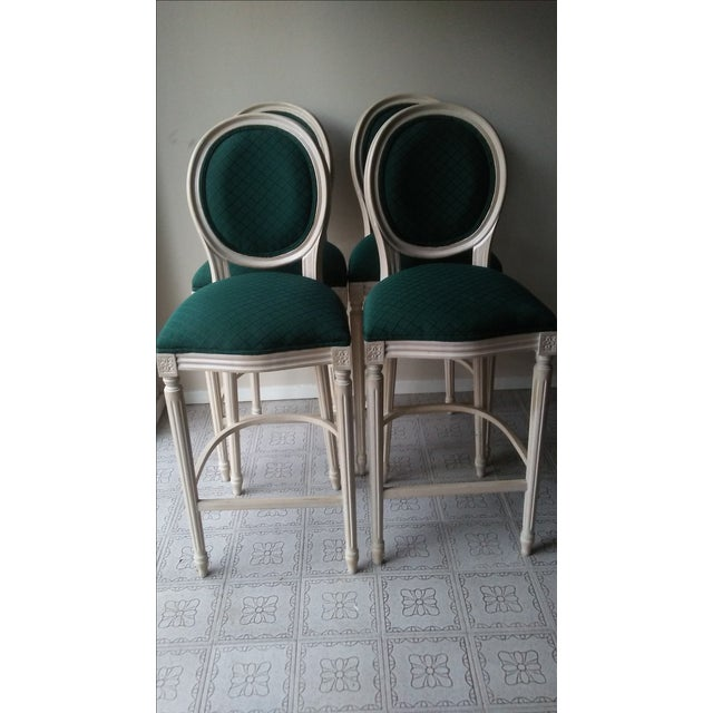 French Louis XVI Style Bar Stools - 4 - Image 3 of 10