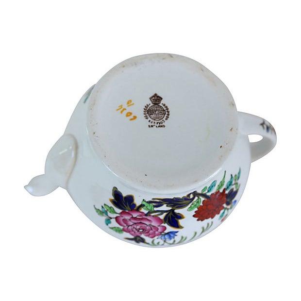 Minton Antique Mintons Hand-Painted Floral Teapot For Sale - Image 4 of 5