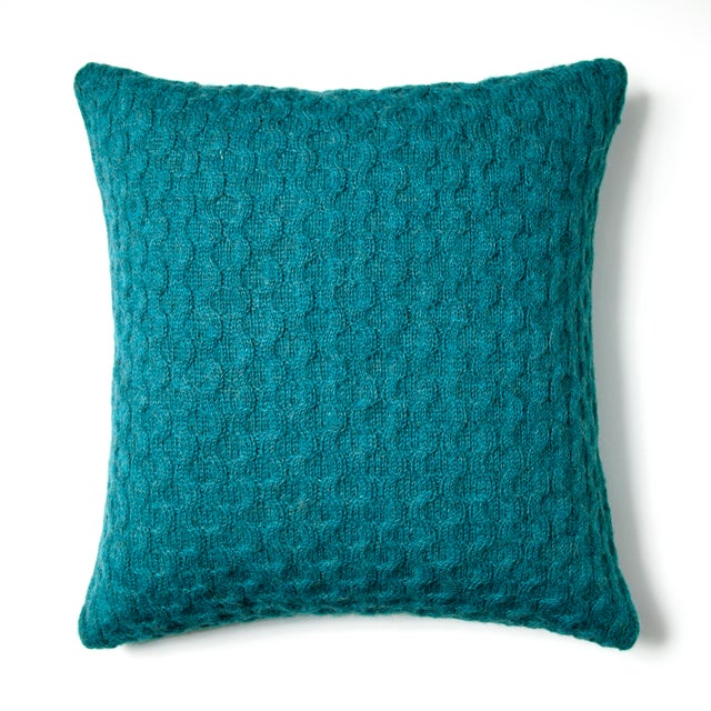 Mid-Century Modern Theo Square Pillow For Sale - Image 3 of 3