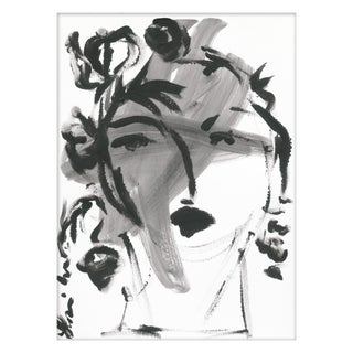 "Medium ""Black and White Portrait"" Print by Leslie Weaver, 18"" X 24"" For Sale"