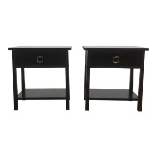 Traditional Mahogany Side Tables - a Pair