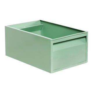 Large 1940s Industrial Storage Bin, Refinished in Sage Green For Sale