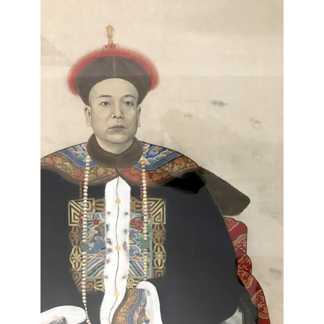 Asian Chinese Ancestor Painting of a High Ranking Gentleman For Sale - Image 3 of 10