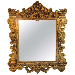 Louis XVI Style Gilt Decorated Wall or Console Mirror For Sale