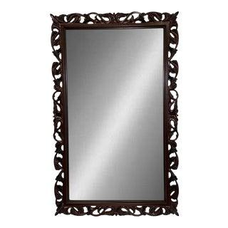 Dark Finish Cherry Accent Mirror For Sale
