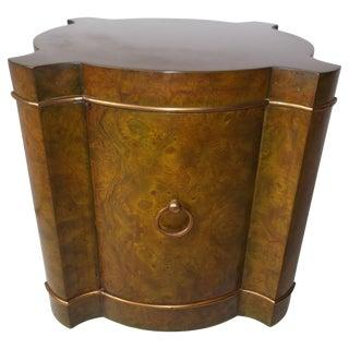 Mastercraft Burl Quatrefoil Drum Table For Sale