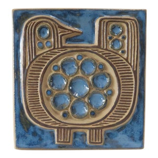 Vintage Bornholm Glazed Decorative Tile