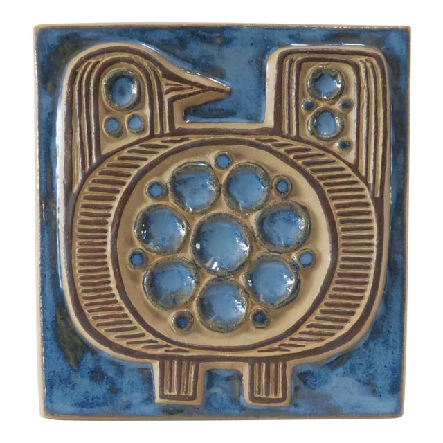 Vintage Bornholm Glazed Decorative Tile - Image 1 of 5