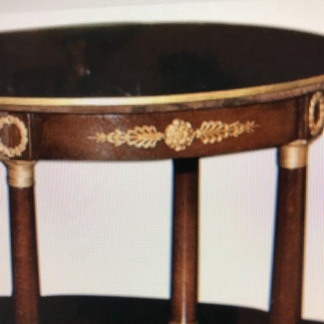 Doré Bronze Wooden Double Level Table - Image 4 of 5