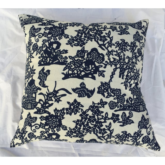 Blue & White Chinoiserie Pillows - A Pair - Image 5 of 9