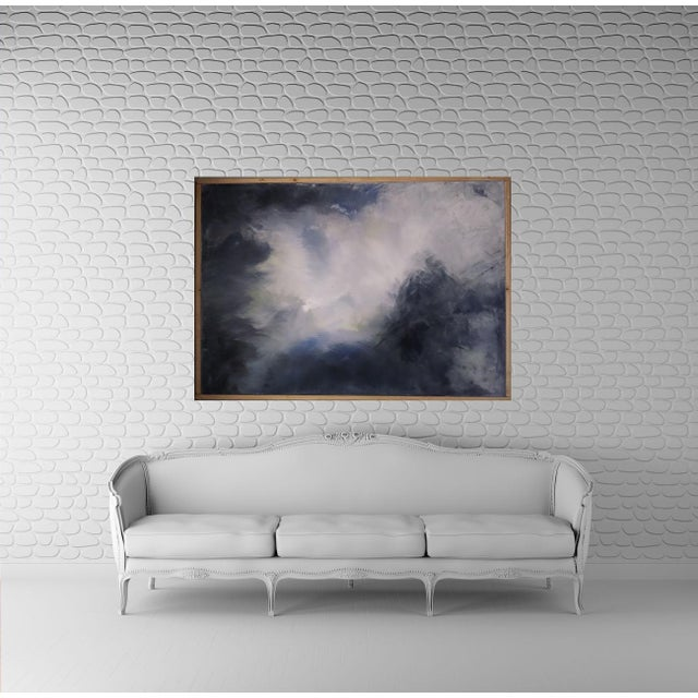 """Billowing Clouds"" Original Abstract Art by Kris Gould - Image 2 of 6"