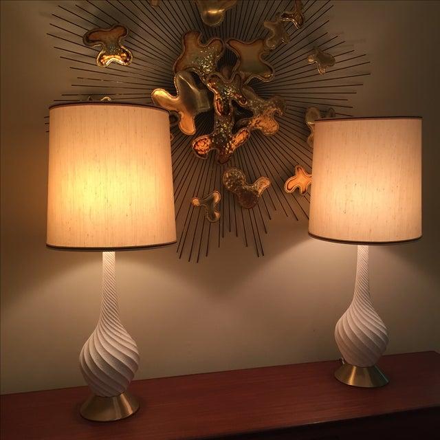 Quartite Creative Mid-Century Spiral Lamps - Pair - Image 5 of 5