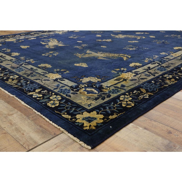 Antique Chinese Peking Art Deco Rug With Chinoiserie Style - 09'01 X 13'07 For Sale In Dallas - Image 6 of 10