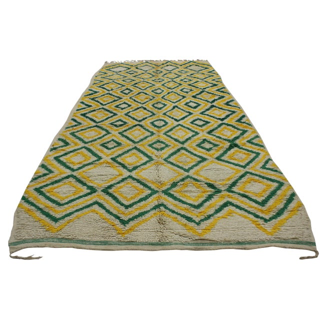 """Boho Chic Vintage Moroccan Berber Azilal Rug - 5'7"""" x 12'8"""" For Sale - Image 3 of 6"""