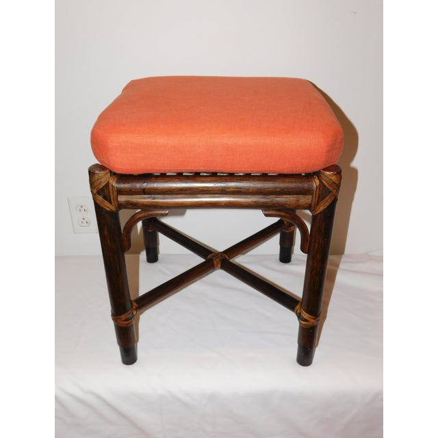 Vintage McGuire Rattan Benches - Pair - Image 3 of 10