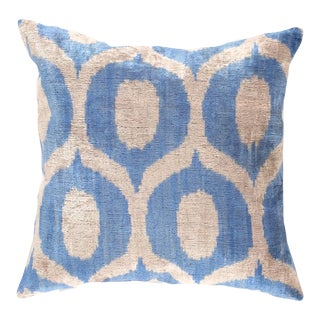 Turkish Hand Woven Silk Velvet Pillow 20'' #Ti 303 For Sale