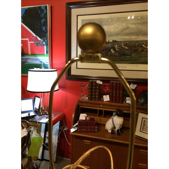 Vintage Heyco Mid-Century Metal Lamps - A Pair For Sale - Image 4 of 10