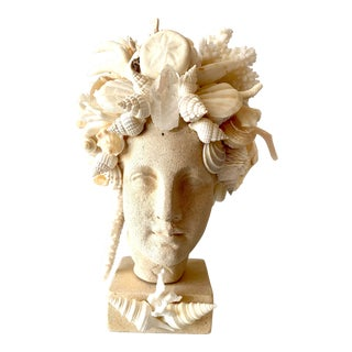 Hygiea Shell Encrusted Head For Sale