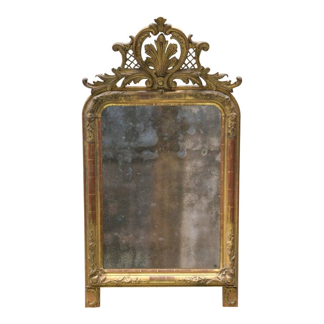Gold 19th Century Mirror For Sale - Image 8 of 8