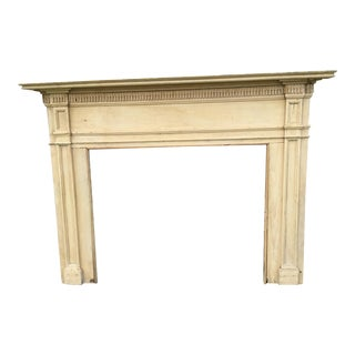 18th Century Antique Bleached Pine Mantel Fireplace Surround For Sale