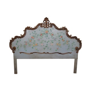 Vintage French Louis XV Style King Size Headboard