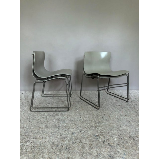 """For sale is a set of four """"Handkerchief"""" dining chairs designed by Massimo and Lella Vignelli for Knoll. Vignelli Designs..."""