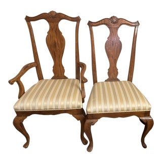 Drexel Heritage Arm Chair & Side Chair - Set of 2 For Sale