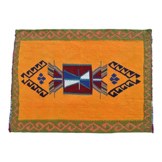 """Flat Weave Petite Rug. Small Turkish Kilim Chic Area Rug - 2'1"""" X 2'9"""" For Sale"""