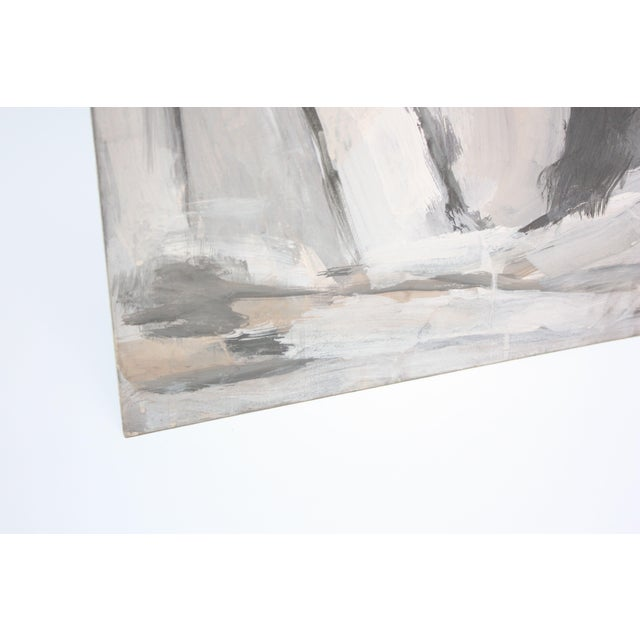 Abstract Oil and Gouache on Board by Elizabeth Nachman Erlanger For Sale In New York - Image 6 of 11