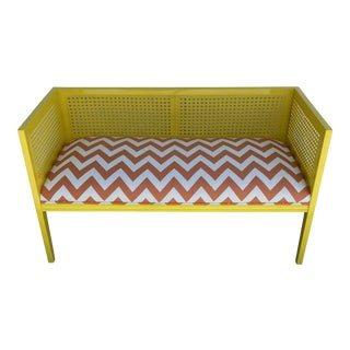 Midcentury Cane Loveseat For Sale