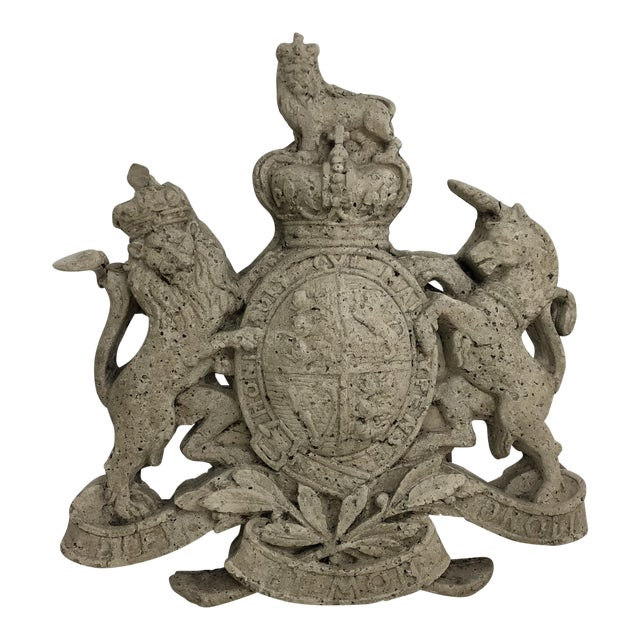 Cast Stone British Royal Coat of Arms For Sale