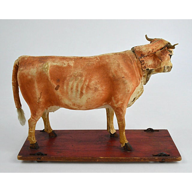 Vintage Leather Cow Pull Toy - Image 11 of 11