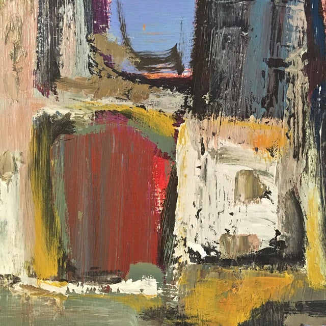 Signed Mid-Century Abstract Oil on Board - Image 4 of 10