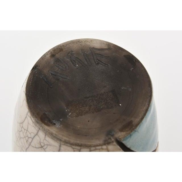 Vintage Raku Ceramic Nude Vase, Signed For Sale - Image 10 of 11