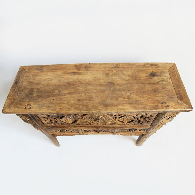 Antique Carved Mongolian Console - Image 4 of 5